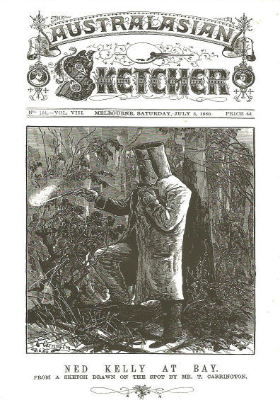 Ned Kelly The Sketcher Postcard