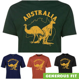 Australia Kangaroo & Emu Adults T-Shirt (Various Colours)