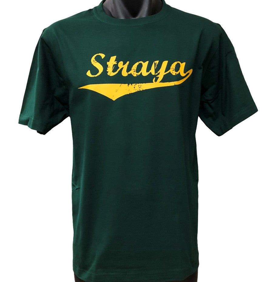 Straya Adults Aussie Sports Colours T-Shirt (Bottle Green)