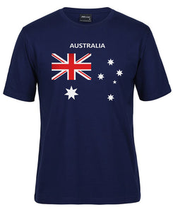 Australian Flag T-Shirt (Jnr Navy, Adults Sizes)