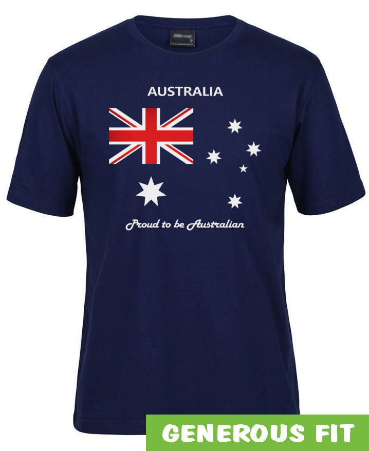 Proud to be Australian Adults T-Shirt (Jnr Navy)