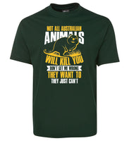Not All Australian Animals Kill Adults T-Shirt (Bottle Green)