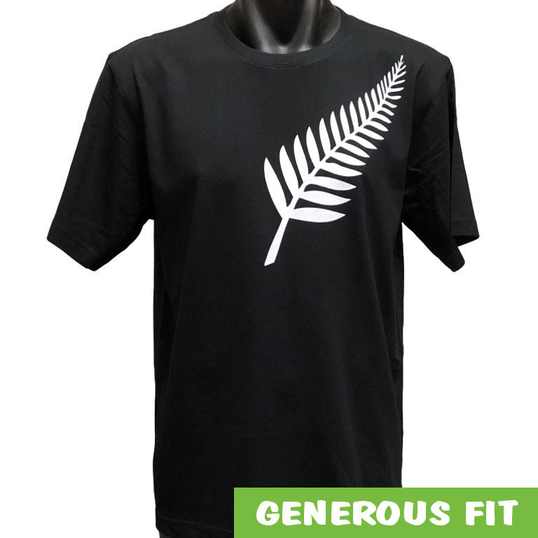 Silver Fern Adults T-Shirt (Black)