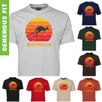 Kangaroo Sunset Australia Adults T-Shirt (Various Colours)
