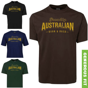 Australian Born & Bred Adults T-Shirt (Various Colours)