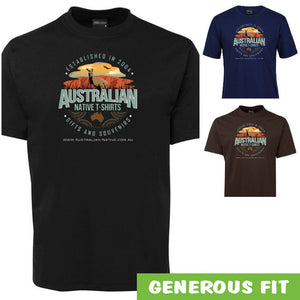 Australian Native T-Shirts Retro Logo Adults T-Shirt (Various Colours)