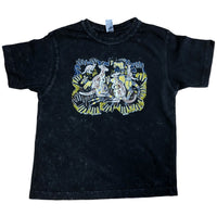 Kangaroo Survival Childrens T-Shirt (Black Stonewash)