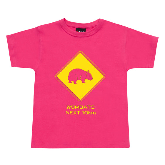 Wombats Next 10km Childrens T-Shirt (Hot Pink)