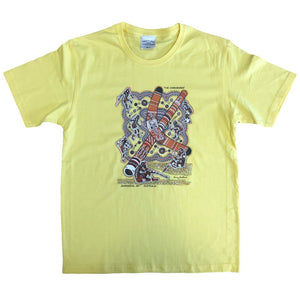 Aboriginal Corroboree Childrens T-Shirt (Pale Yellow) *Limited Edition*