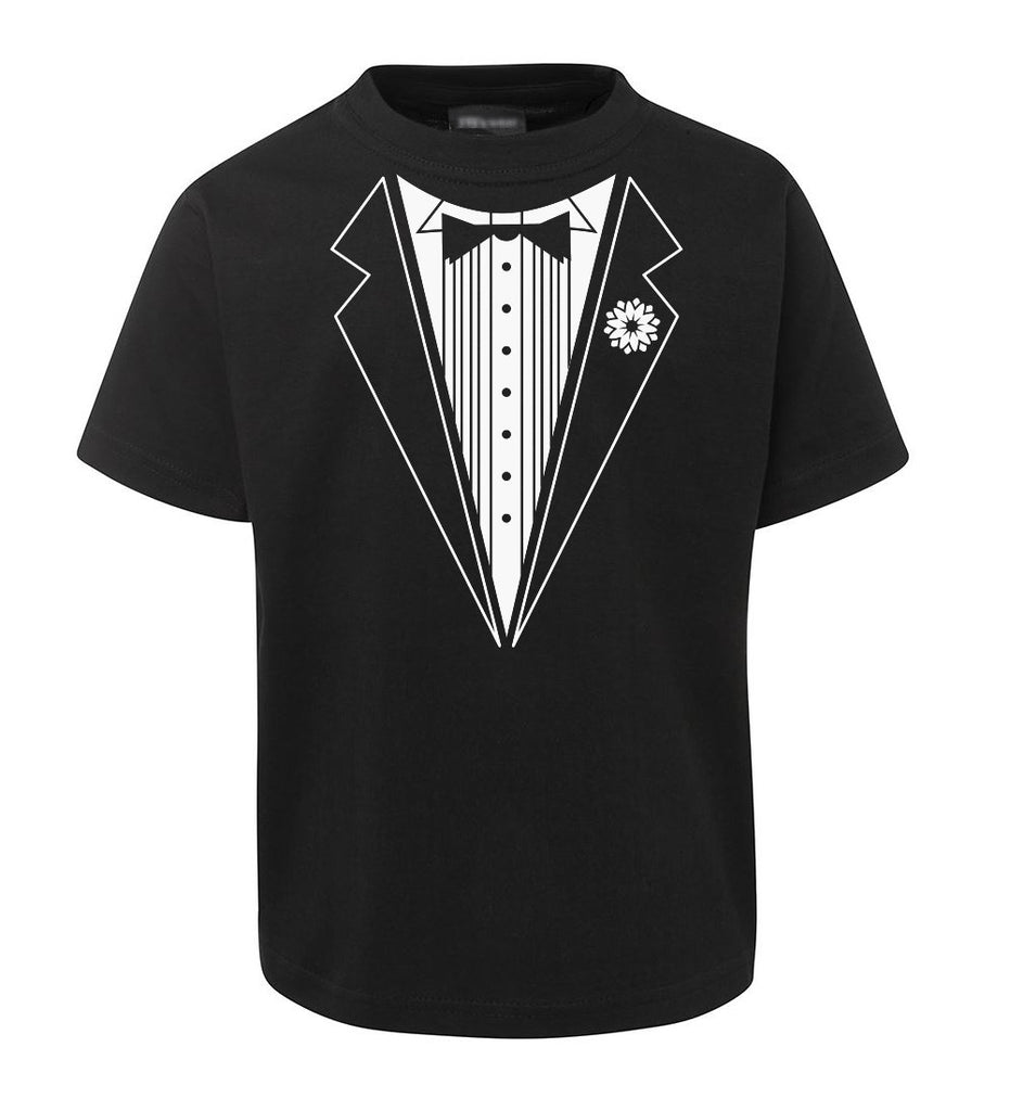 B&W Tuxedo T-Shirt (Black, Childrens Sizes)