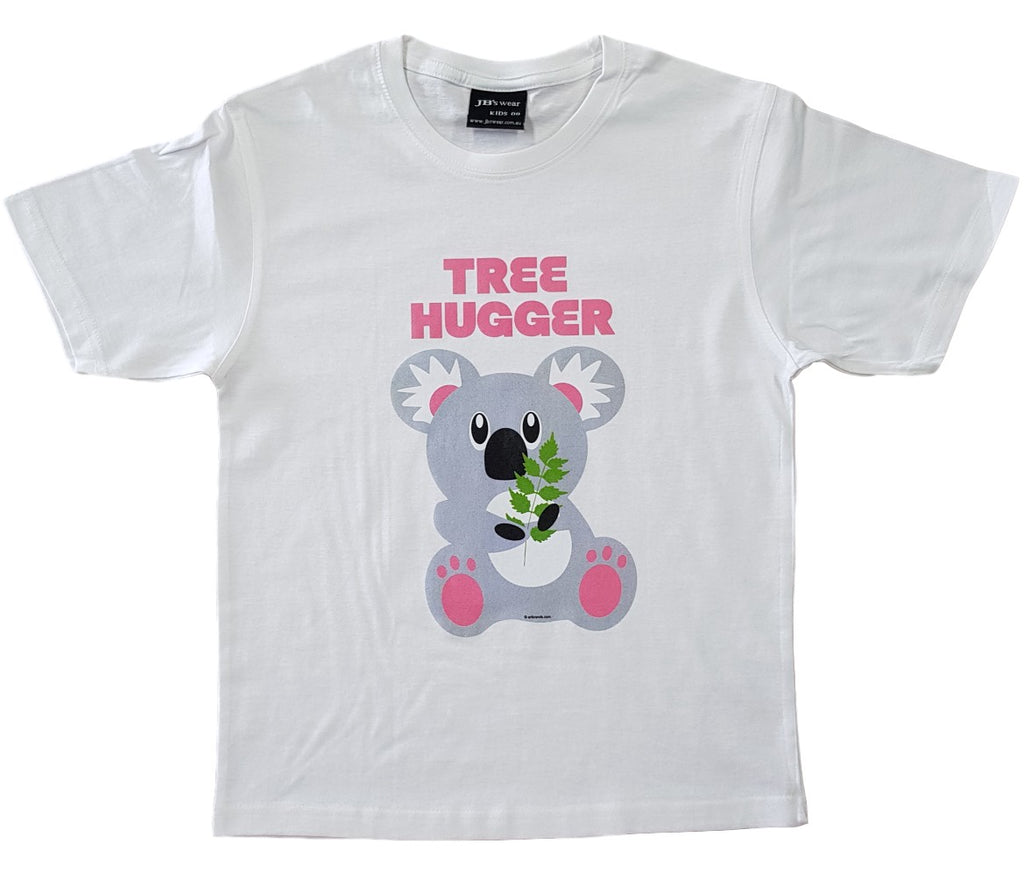 Tree Hugger Koala T-Shirt (White, Childrens Sizes)