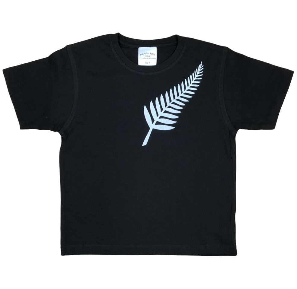 Silver Fern Childrens T-Shirt (Black)