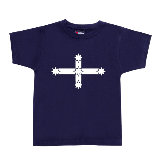 Eureka Flag Childrens T-Shirt (Navy)