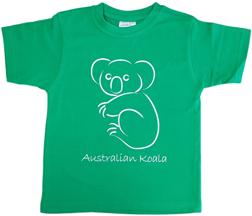 Australian Koala Childrens T-Shirt (Emerald Green)