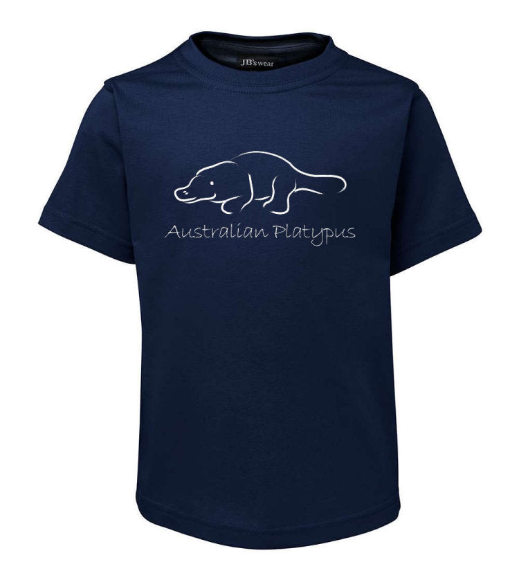 Australian Platypus T-Shirt (Jnr Navy, Childrens Sizes)