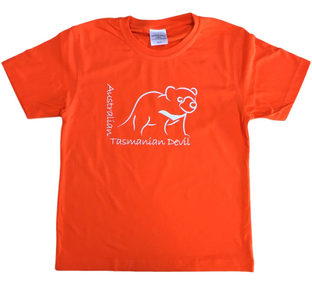 Australian Tasmanian Devil Childrens T-Shirt (Orange)