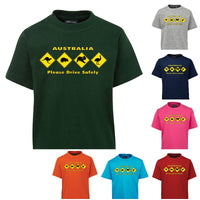 Australian Animal Road Signs Childrens T-Shirt (Various Colours)