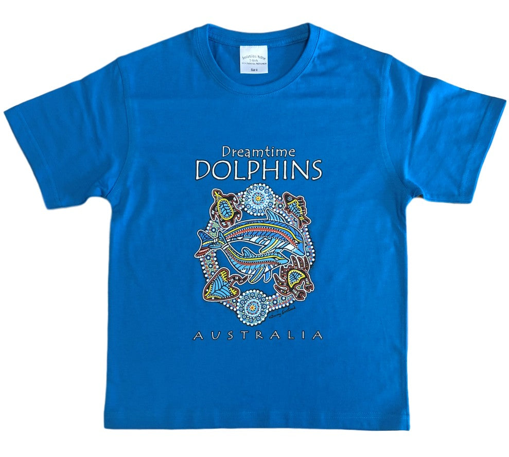 Dolphins Dreaming Childrens T-Shirt (Aqua) *Limited Edition*