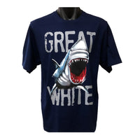 Great White Shark Childrens T-Shirt (Jnr Navy)
