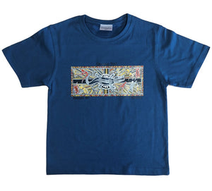 Crocodile Hunt Childrens T-Shirt (Indigo) *Limited Edition*