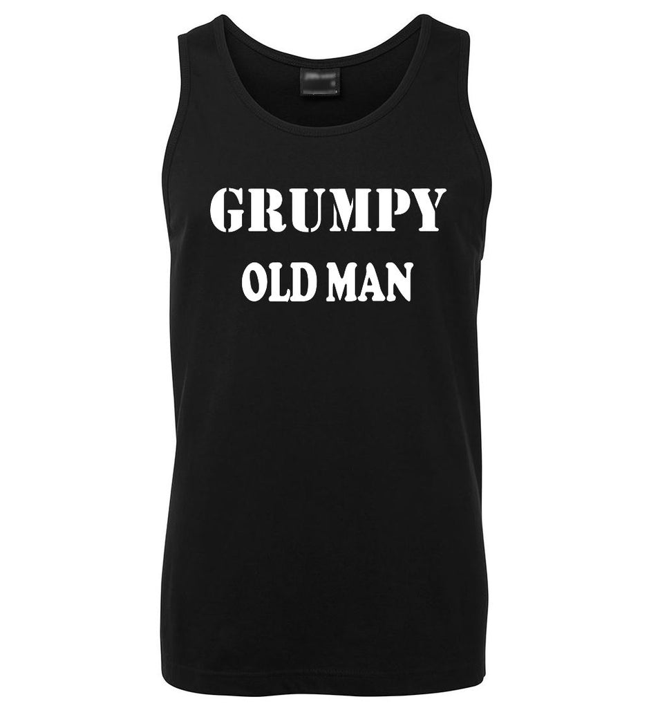 Grumpy Old Man Mens Singlet (Black)