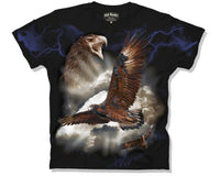 Wedge Tailed Eagle Lightning Adults T-Shirt (Black)