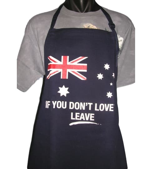 Australia Love It or Leave! BBQ Apron
