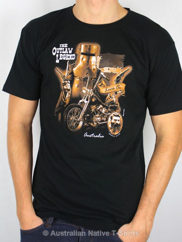 Ned Kelly Outlaw Legend Adults T-Shirt