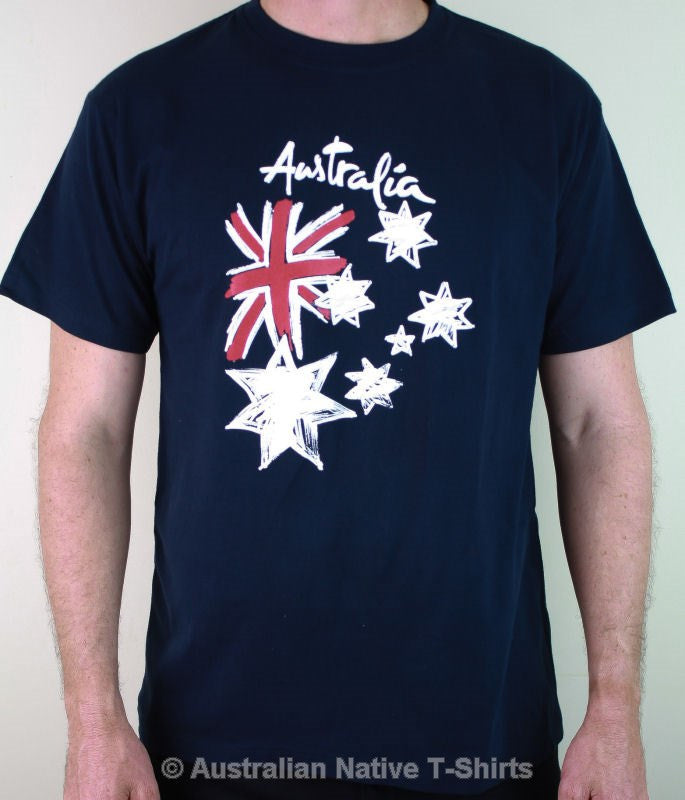 Australian Flag Graffiti Adults T-Shirt