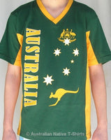 AUST Stars & Crest Adults T-Shirt (Green)