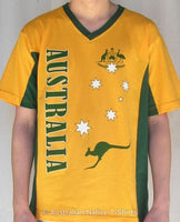 AUST Stars & Crest Adults T-Shirt (Yellow)