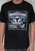 Outback Scene Adults T-Shirt (Black)