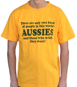 Size Medium - Two Kinds of People.. Aussies T-Shirt - Free Shipping Sale