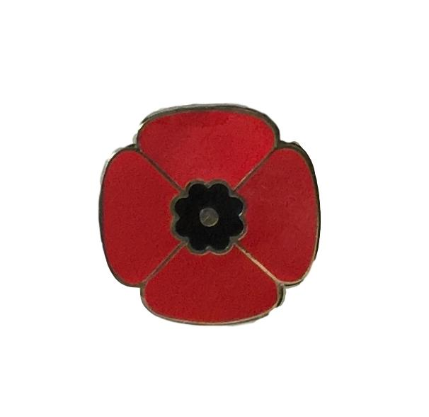 Red Poppy of Remembrance Badge (2cm)