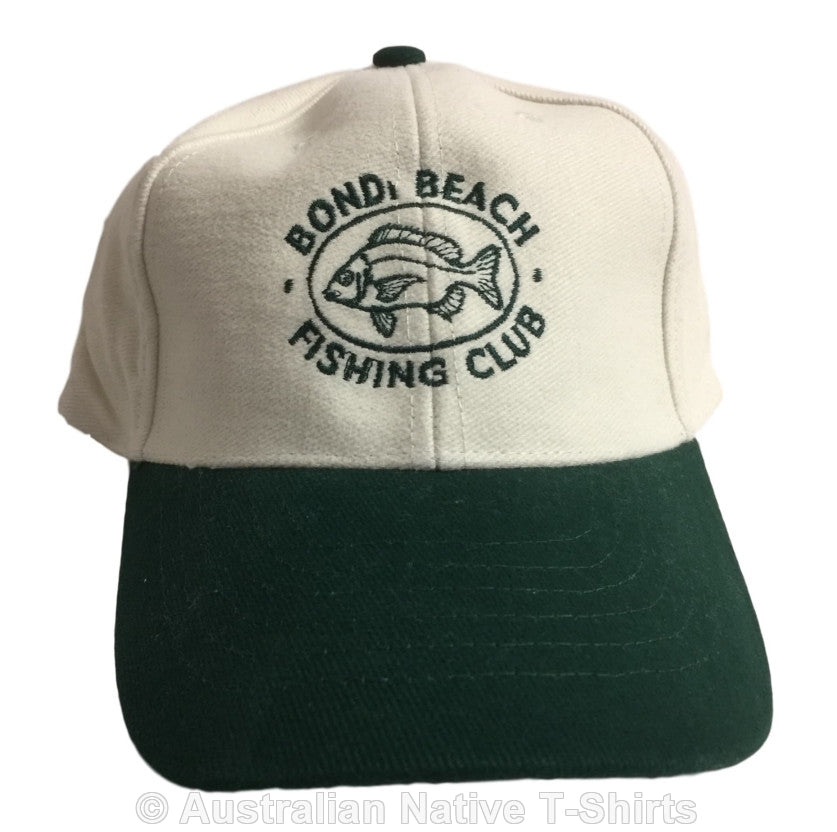 Bondi Fishing Club Baseball Cap (Green & Cream)