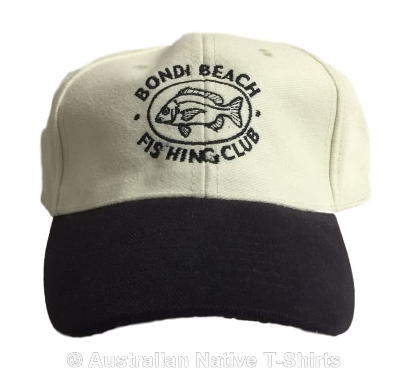Bondi Fishing Club Baseball Cap (Blue & Cream)
