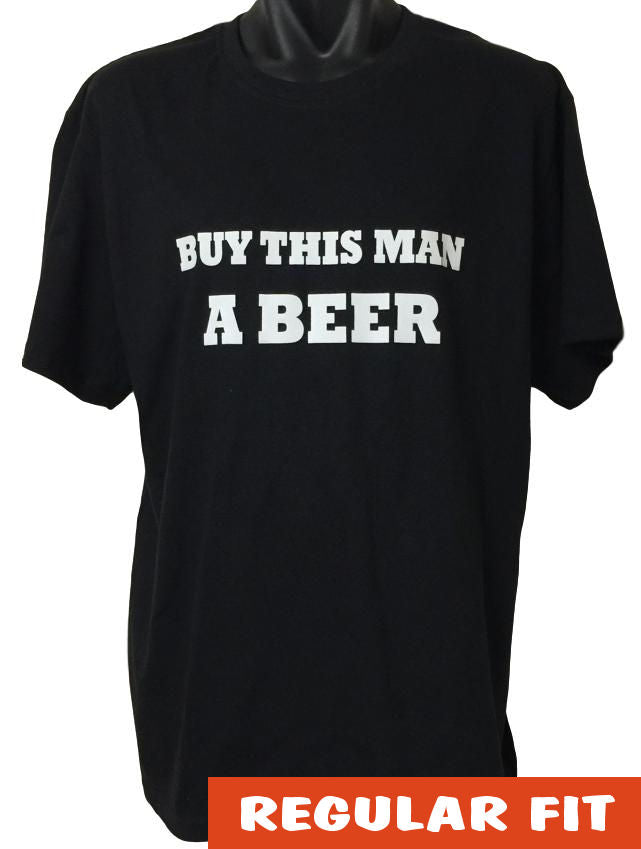 Buy This Man a Beer Adults T-Shirt (Black)