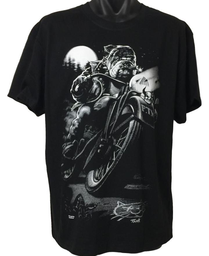 Bulldog Biker T-Shirt (Black)