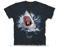Oh SHIT! Adults Shark T-Shirt (Black)