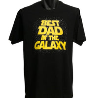 Best Dad in the Galaxy Adults T-Shirt (Black)