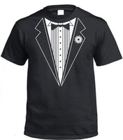 B&W Tuxedo T-Shirt (Black, Adults Sizes)