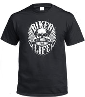 Biker for Life T-Shirt (Black)