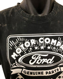 Ford Flags Stone Wash T-Shirt (Black) - Close Up