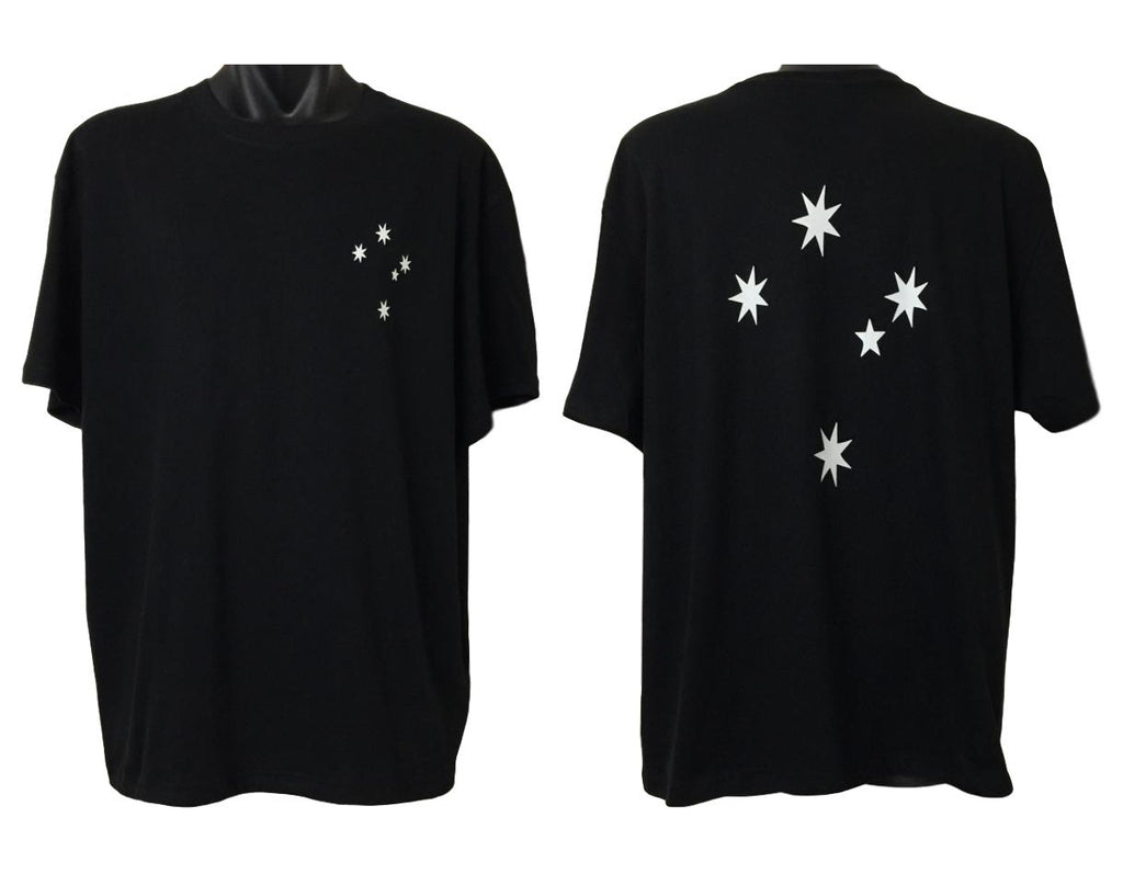 Southern Cross T-Shirt (Black, Double Sided)