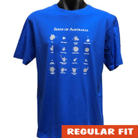 Birds of Australia (Bird Poo) T-Shirt (Royal Blue)