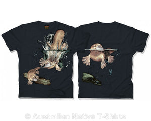 Australian Platypus Childrens T-Shirt (Black)