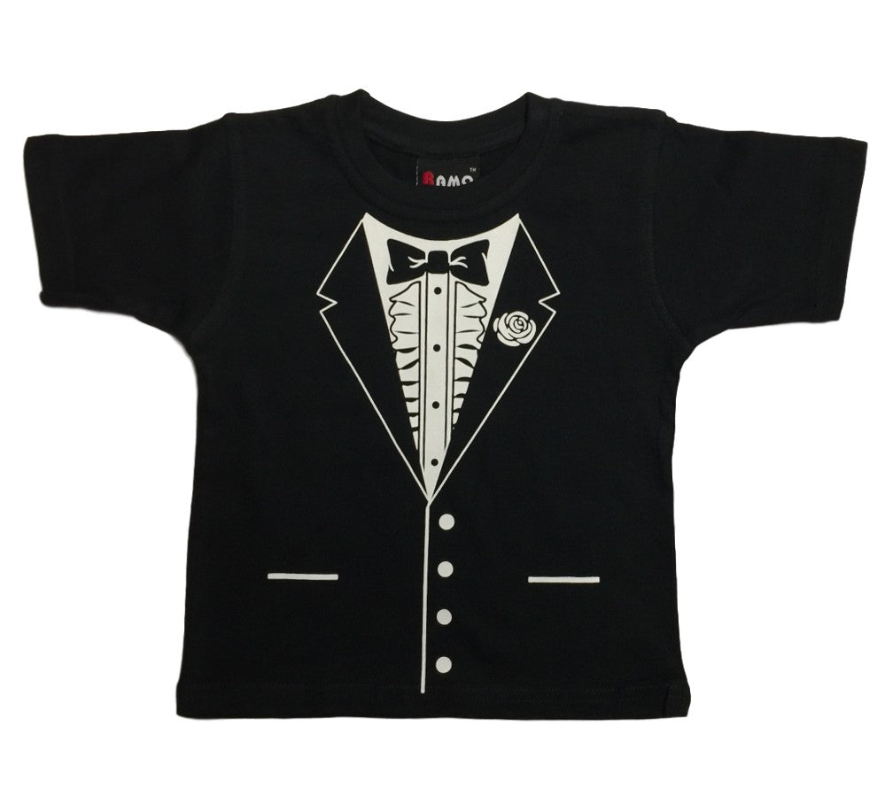 Bow Tie Tuxedo T-Shirt (Childrens Sizes)