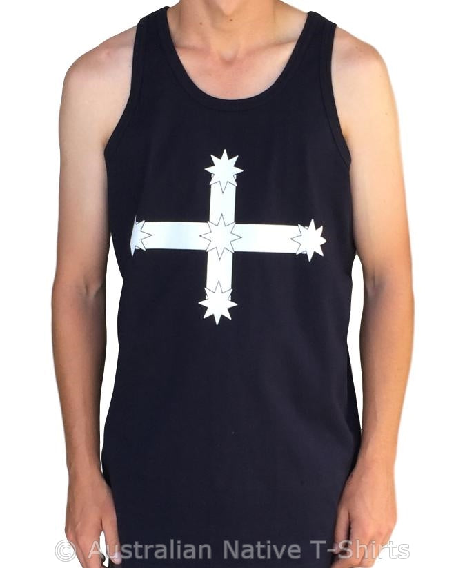 Eureka Flag Mens Singlet (Navy)