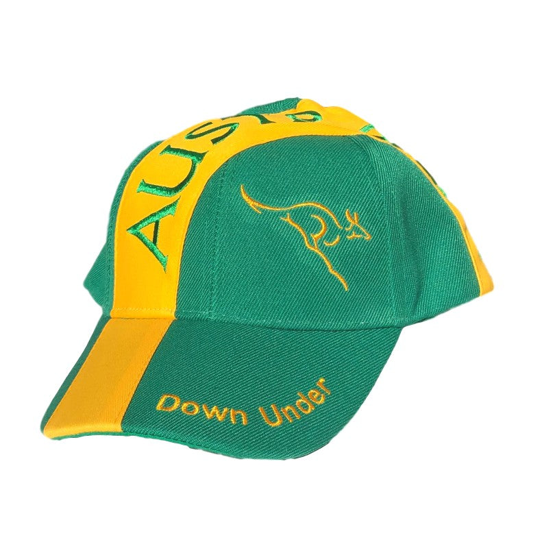 Green & Gold Australia Sports Baseball Cap