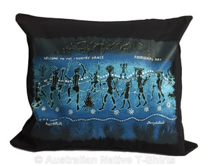 Aboriginal Dance Cushion Cover (Dark Navy)